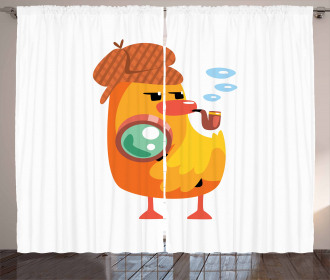 Private Detective Duck Curtain