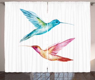 Colorful Hummingbird Curtain