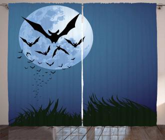 Cloud of Bats Flying Curtain