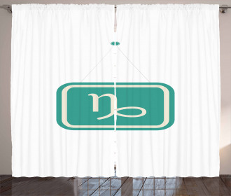 Bicolor Sign Curtain