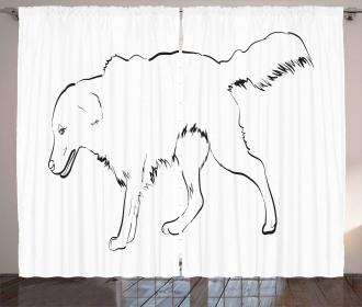 Thoroughbred Furry Curtain