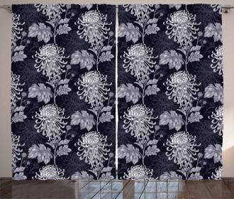 Chrysanthemum Blooming Curtain