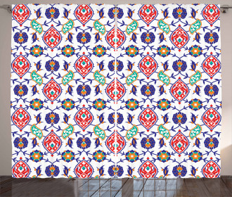 Moroccan Tiles Curtain