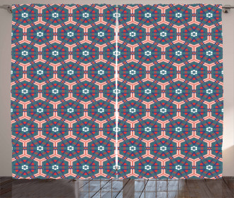 Hexagonal Tiles Curtain