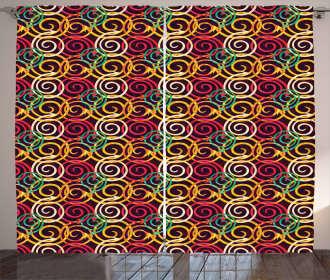 Curved Spiral Arrows Curtain