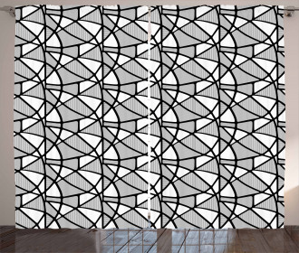 Thick Thin Lines Tile Curtain