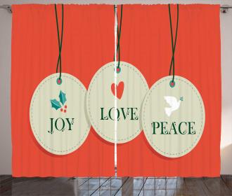 Joy Love and Peace Curtain