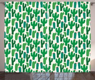 San Pedro Cactus Floral Curtain