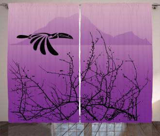 Hornbill Silhouette Curtain