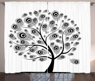 Ethnic Peacock Motifs Curtain