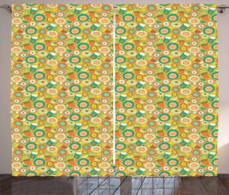 Botanical Flowers Curtain