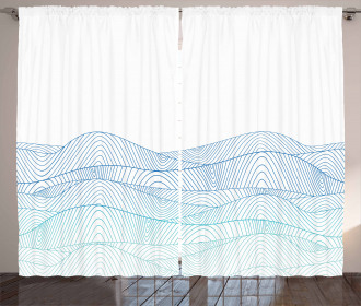 Abstract Seascape Curtain