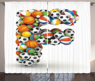 Sports Balls for Kids Curtain