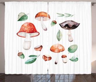 Fall Season Mushroom Curtain