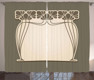 Floral Arch Shape Curtain