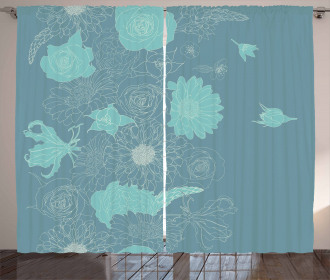 Exotic Blossoms Curtain