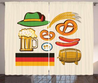 Wheat Beer Pretzels Curtain
