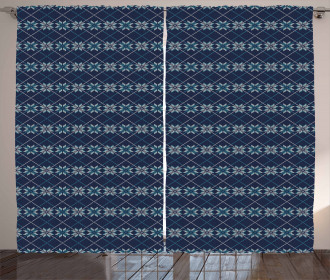 Winter Holiday Pattern Curtain