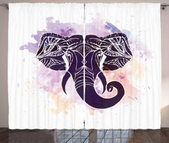 Watercolor Elephant Curtain