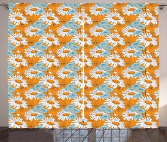Spring Season Daisies Curtain