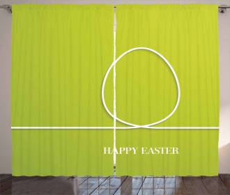 Minimalist Egg Design Curtain