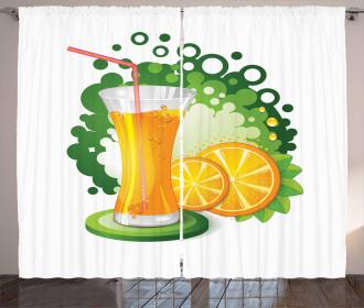 Juice Fruit Slices Curtain