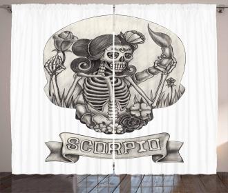 Skeleton Woman Curtain