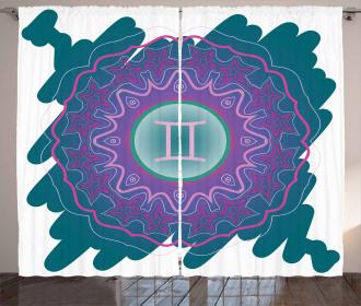 Doodle Mandala Curtain