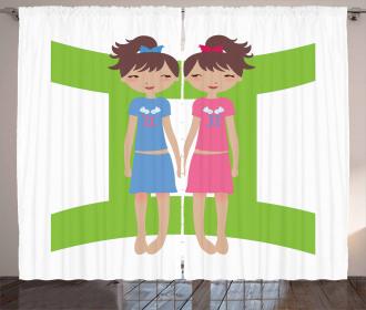 Twin Girls Teens Curtain