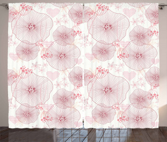 Blooms of a Romantic Spring Curtain