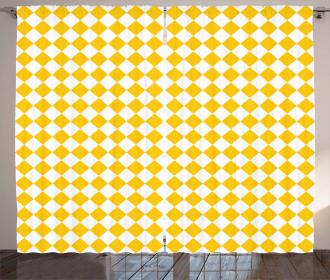 Checkered Grid Curtain
