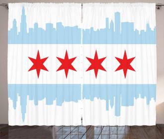 Buildings Flag Curtain