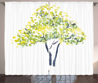Blooming Spring Branch Curtain