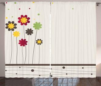 Spring Field Art Curtain