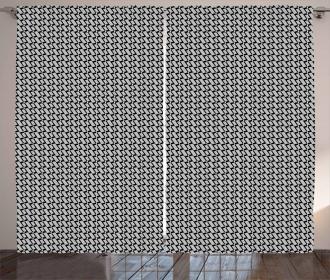 Monotone Shapes Curtain
