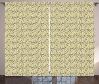 Retro Daisies Curtain