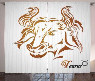 Tribal Bull Face Curtain