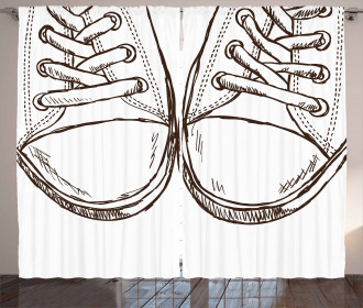 Sneakers Teen Life Art Curtain