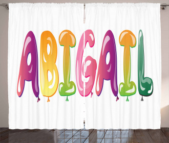 Father's Joy Girl Name Curtain