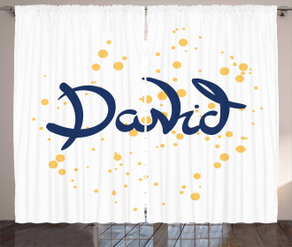 Lettering Style Name Curtain