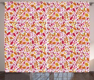 Colorful Artful Foliage Curtain