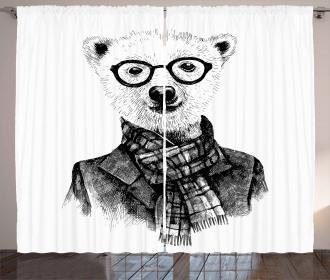 Sketch Bear Curtain