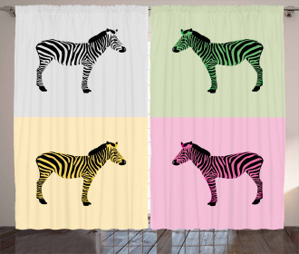Colorful Frames Pop Curtain