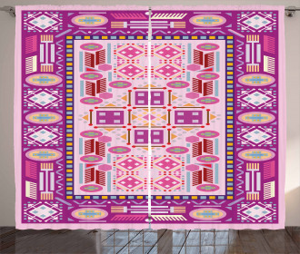 Traditional Afghan Motif Curtain