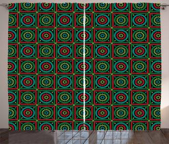 Circles and Squares Curtain
