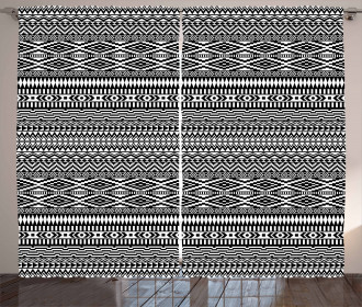 Tribal Shapes Pattern Curtain