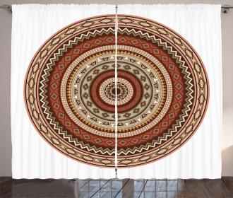 Native American Zigzags Curtain