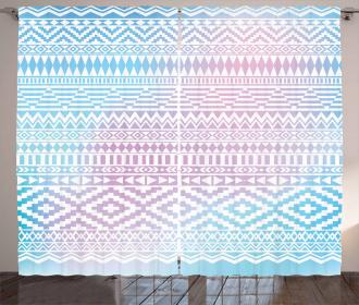 Triangles Zigzag Stripes Curtain