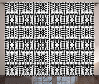 Motifs in Squares Curtain