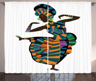 Dancing Zulu Girl Curtain